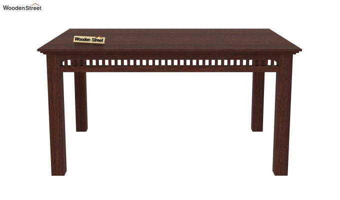Adolph 6 Seater Dining Set With Bench (Walnut Finish)-4