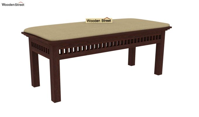 Adolph 6 Seater Dining Set With Bench (Walnut Finish)-7