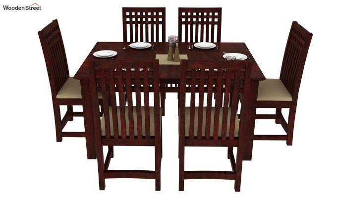 Adolph 6 Seater Dining Set (Mahogany Finish)-2