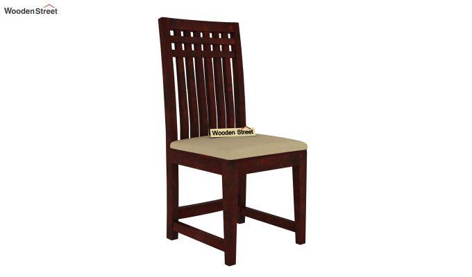 Adolph 6 Seater Dining Set (Mahogany Finish)-5