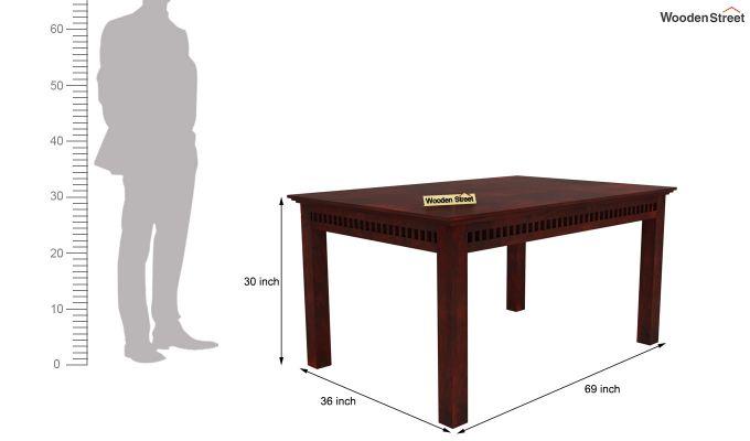 Adolph 6 Seater Dining Set (Mahogany Finish)-7