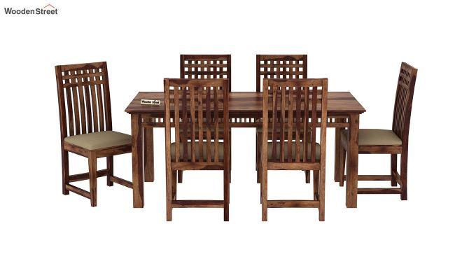 Adolph 6 Seater Dining Set (Teak Finish)-3