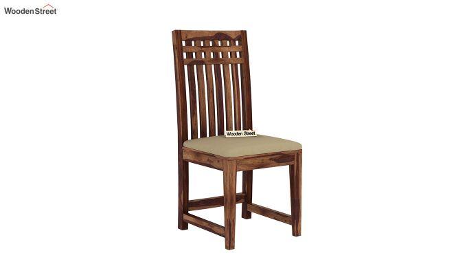 Adolph 6 Seater Dining Set (Teak Finish)-6