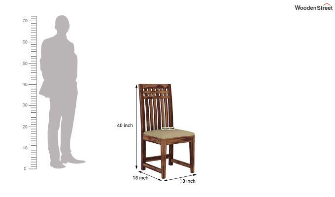 Adolph 6 Seater Dining Set (Teak Finish)-9