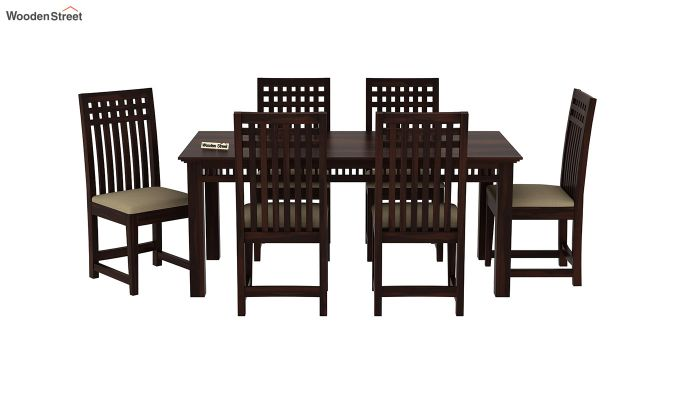 Adolph 6 Seater Dining Set (Walnut Finish)-3