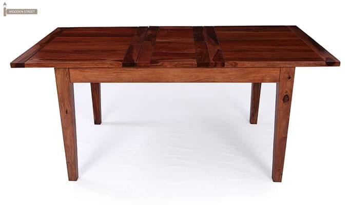 Advin 6 Seater Extendable Dining Set (Cream, Teak Finish)-4