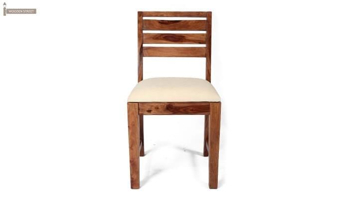 Advin 6 Seater Extendable Dining Set (Cream, Teak Finish)-5