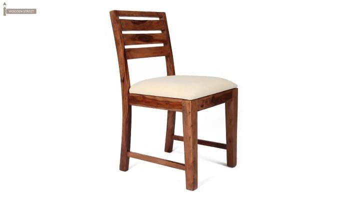 Advin 6 Seater Extendable Dining Set (Cream, Teak Finish)-6