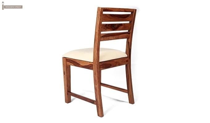 Advin 6 Seater Extendable Dining Set (Cream, Teak Finish)-7
