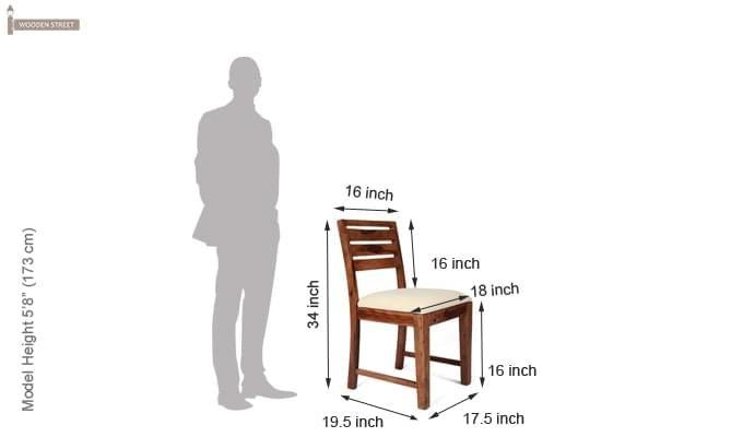 Advin 6 Seater Extendable Dining Set (Cream, Teak Finish)-11