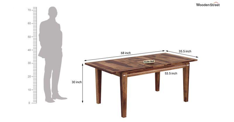 Buy Advin 6 Seater Extendable Dining Set Teak Finish