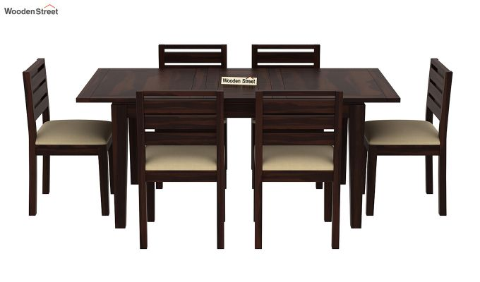 Advin 6 Seater Extendable Dining Set (Walnut Finish)-3