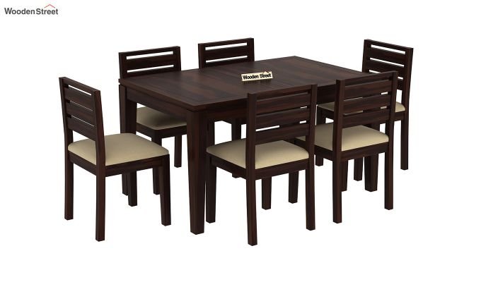 Advin 6 Seater Extendable Dining Set (Walnut Finish)-4