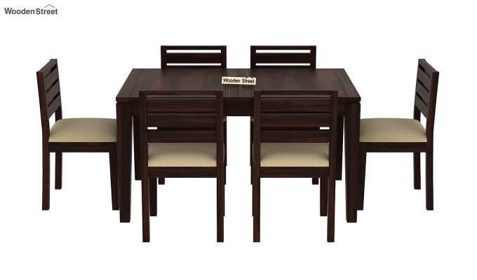 Advin 6 Seater Extendable Dining Set (Walnut Finish)-5