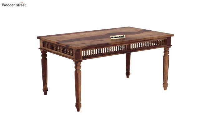 Alanis 6 Seater Dining Set with Bench (Teak Finish)-4