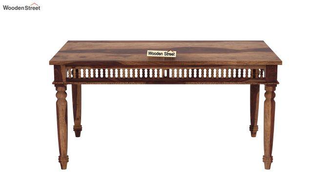 Alanis 6 Seater Dining Set with Bench (Teak Finish)-5