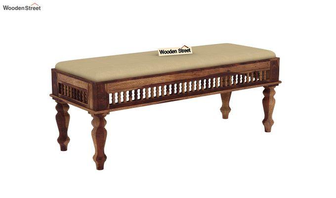 Alanis 6 Seater Dining Set with Bench (Teak Finish)-6