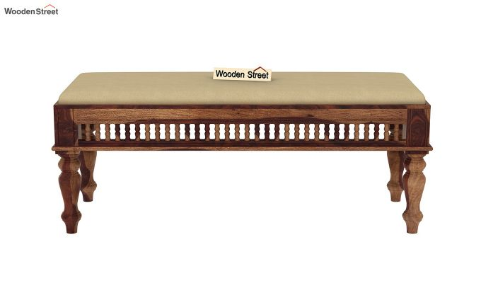 Alanis 6 Seater Dining Set with Bench (Teak Finish)-7