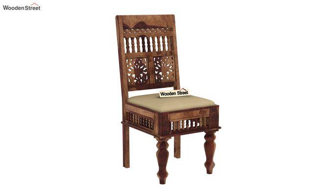Alanis 6 Seater Dining Set with Bench (Teak Finish)-8