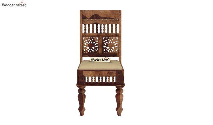 Alanis 6 Seater Dining Set with Bench (Teak Finish)-9