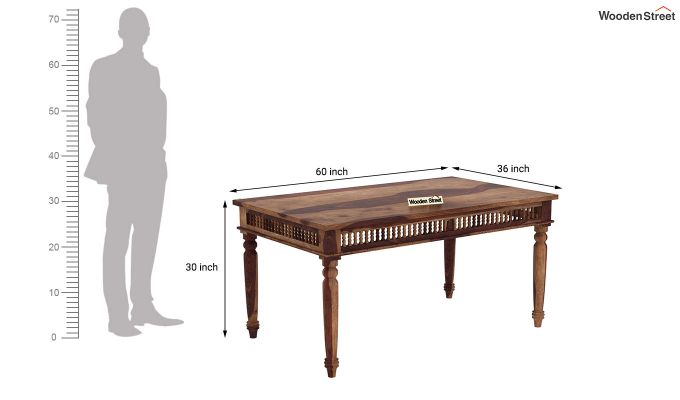 Alanis 6 Seater Dining Set with Bench (Teak Finish)-10