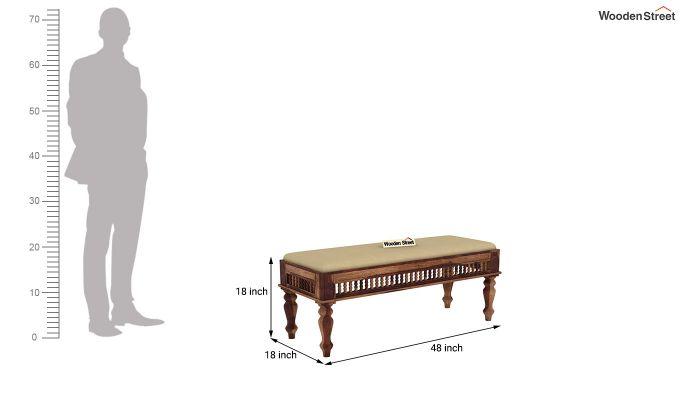 Alanis 6 Seater Dining Set with Bench (Teak Finish)-11