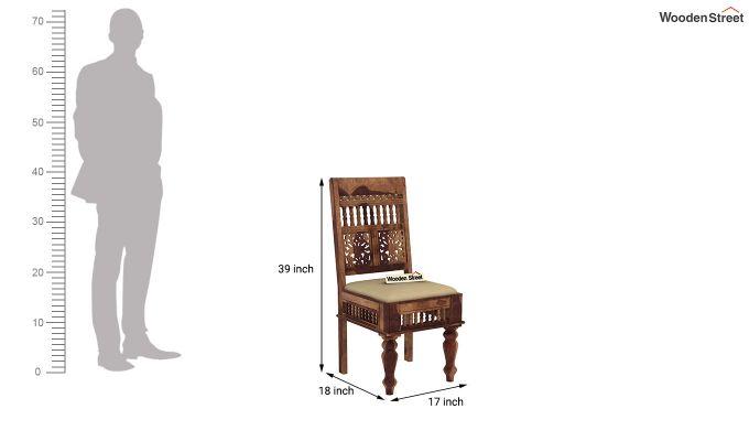 Alanis 6 Seater Dining Set with Bench (Teak Finish)-12