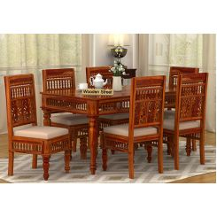 Alanis 6 Seater Dining Set (Honey Finish)
