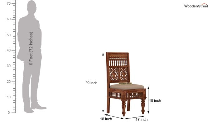 Alanis 6 Seater Dining Set (Teak Finish)-8