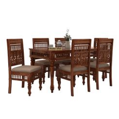 Alanis 6 Seater Dining Set (Teak Finish)