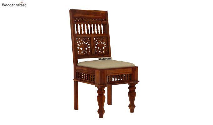 Alanis 6 Seater Dining Set (Honey Finish)-4