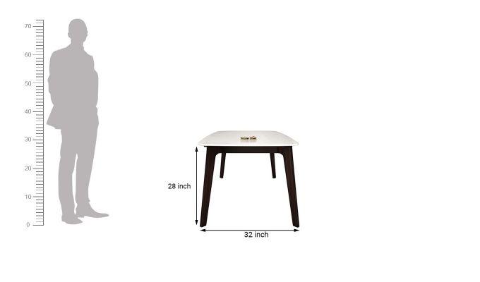 Amoha 6 Seater Marble Top Dining Set (Walnut Finish)-11