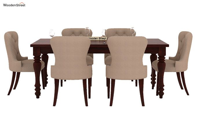 Amora 6 Seater Dinning Set (Mahogany Finish)-2