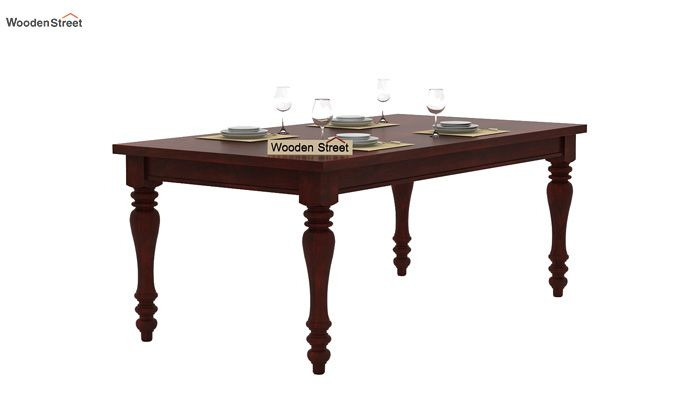 Amora 6 Seater Dinning Set (Mahogany Finish)-3