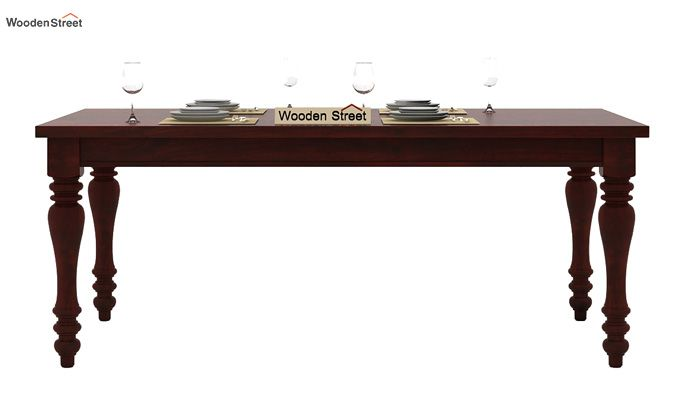 Amora 6 Seater Dinning Set (Mahogany Finish)-4