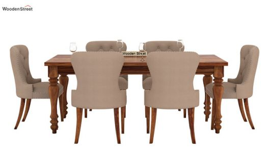 Buy Amora 6 Seater Dinning Set Teak Finish Online In