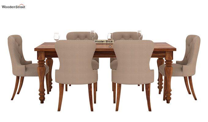 Amora 6 Seater Dinning Set (Teak Finish)-2