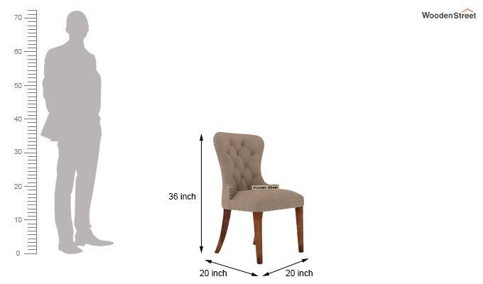 Amora 6 Seater Dinning Set (Teak Finish)-9