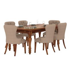 Amora 6 Seater Dinning Set (Teak Finish)