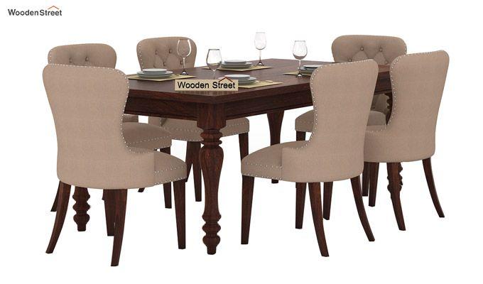 Amora 6 Seater Dinning Set (Walnut Finish)-2