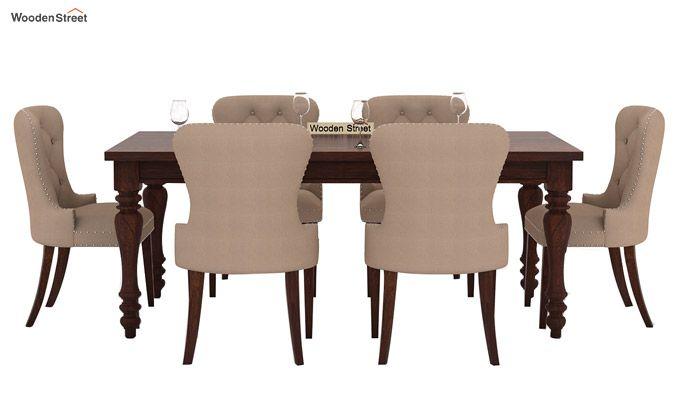 Amora 6 Seater Dinning Set (Walnut Finish)-3