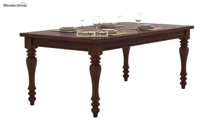 Amora 6 Seater Dinning Set (Walnut Finish)-4