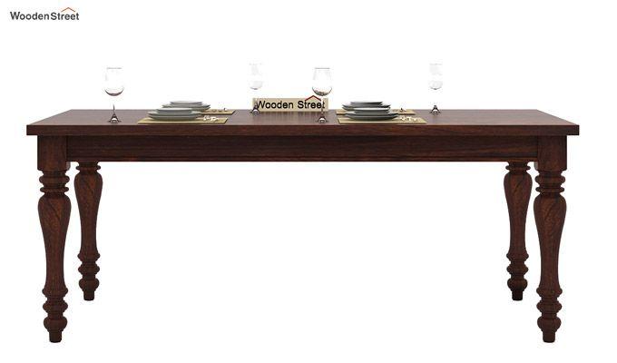 Amora 6 Seater Dinning Set (Walnut Finish)-5