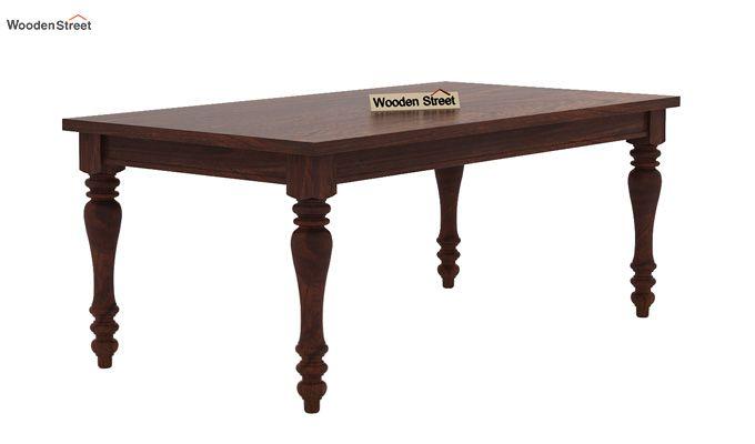 Amora 6 Seater Dinning Set (Walnut Finish)-6