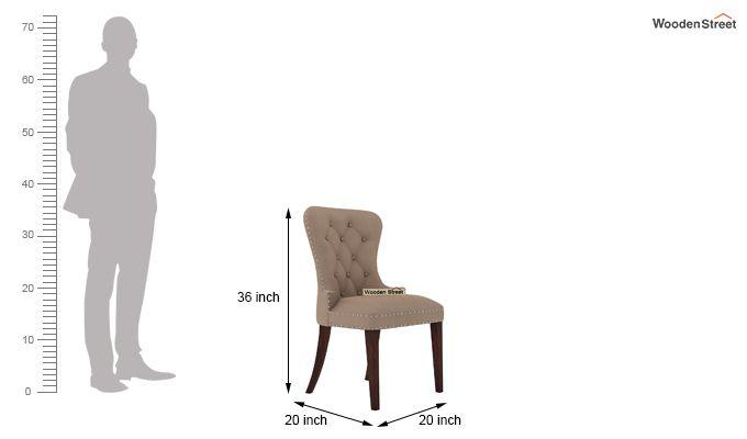Amora 6 Seater Dinning Set (Walnut Finish)-10