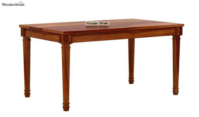 Archivist 6 Seater Dining Set (Honey Finish)-4