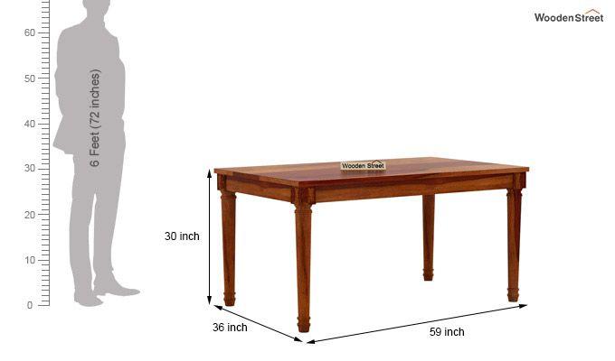 Archivist 6 Seater Dining Set (Honey Finish)-8