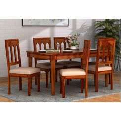 Archivist 6 Seater Dining Set (Honey Finish)