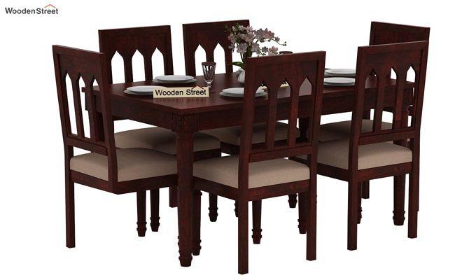 Archivist 6 Seater Dining Set (Mahogany Finish)-1