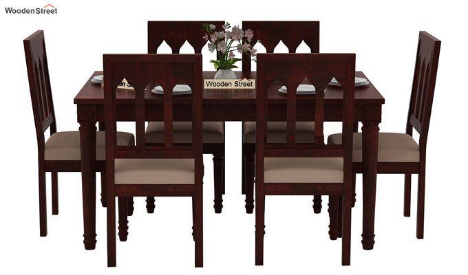 Archivist 6 Seater Dining Set (Mahogany Finish)-2